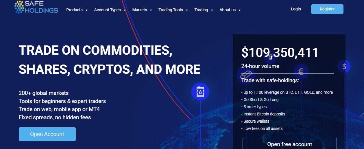 Safe Holdings website