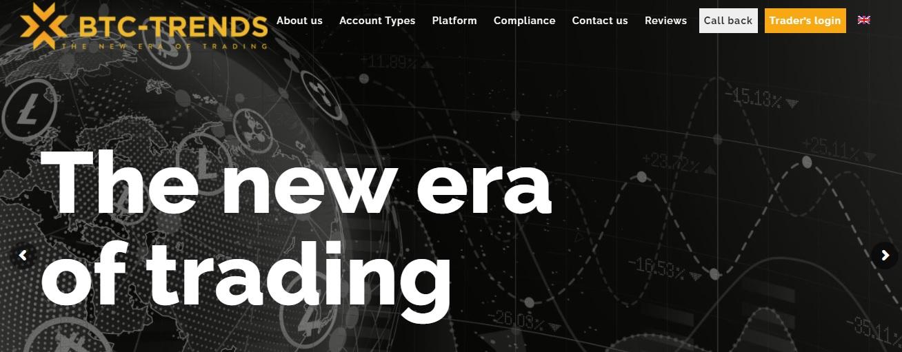 BTC-Trends website