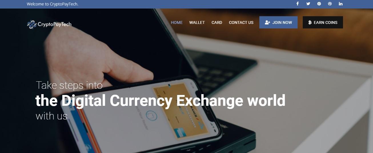 CryptoPayTech website